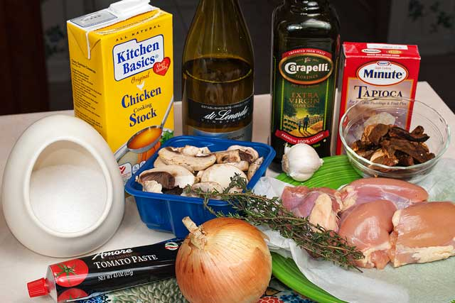 Slow cooker chicken ingredients