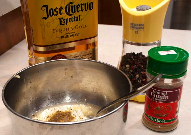 Tequila lime sauce