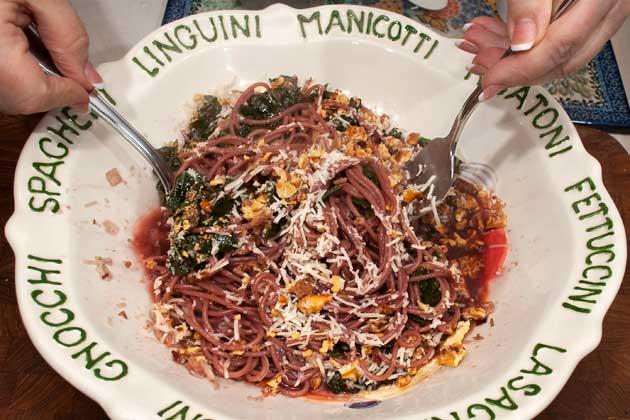 Complete pasta dish