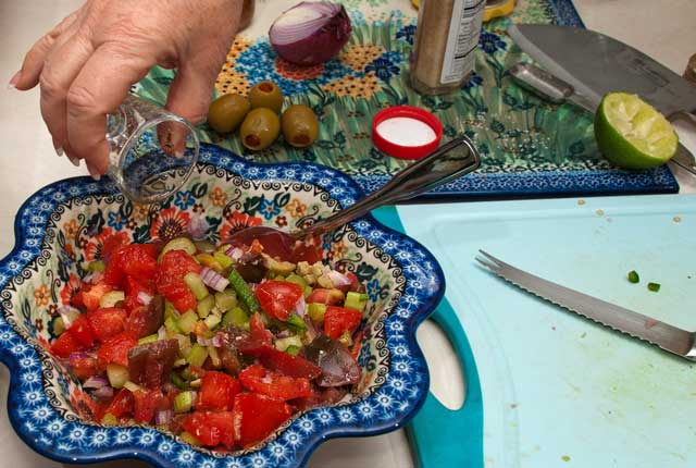 Completed salsa