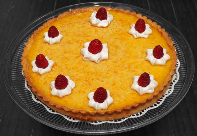 Garnished tart