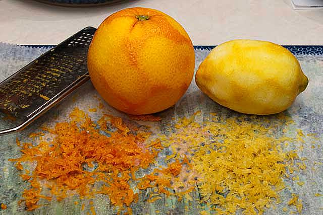 Orang and lemon peel