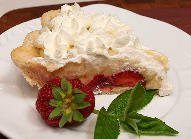 Plated pie