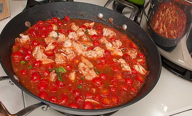 Recipe for fish pasta sauce