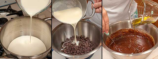 Preparation of chocolate ganache