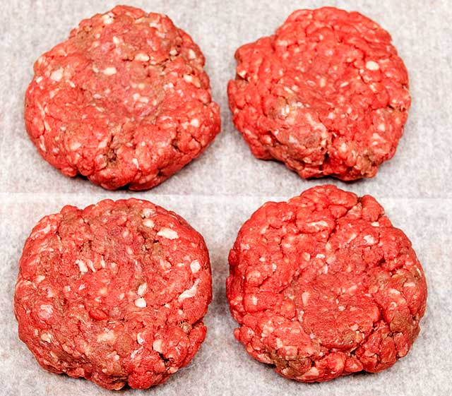 Formation of ground chuck burger