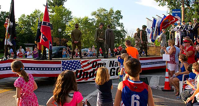 Veteran's float