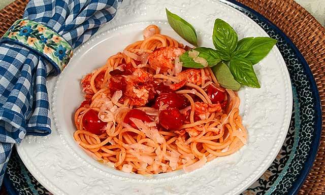 plated pasta arrabiata recipe