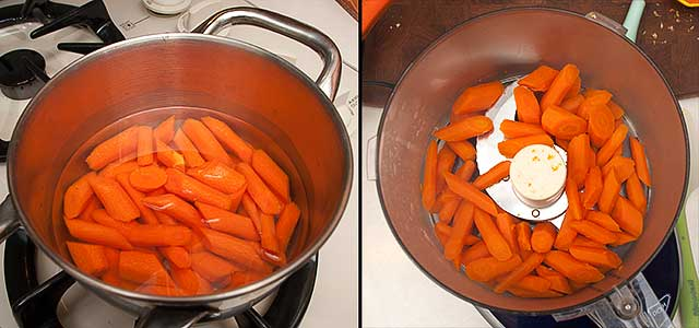 Carrot puree preparation