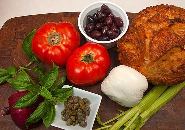 Ingredients for Italian Bread Salad