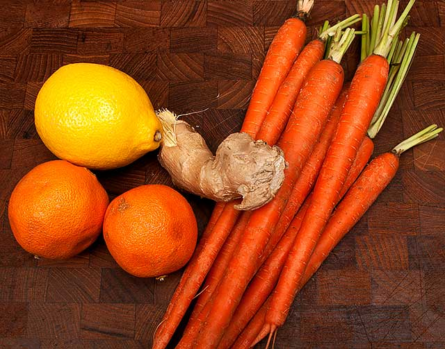 Ingredients for the carrot puree recipe