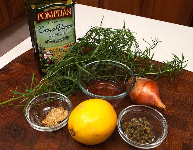 Ingredients for Sauce Verte