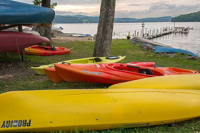 Kayaks on Otsego Lake