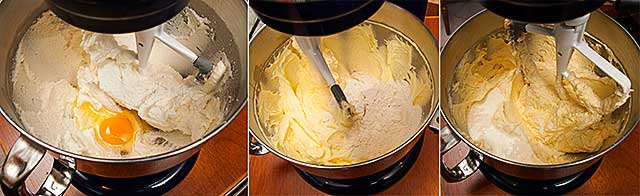 Creaming and mixing lemon pound cake ingredients