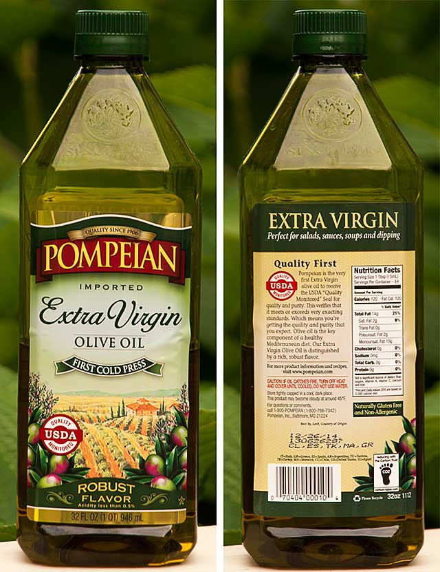 Extra Virgin Olive Oil labels