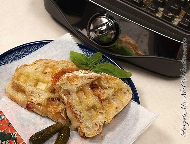 Waffle baker toasted cheese