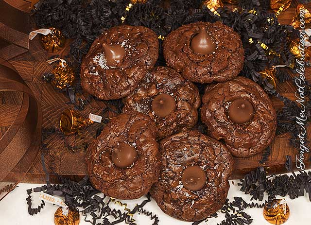 Chocolate brownie kiss cookies