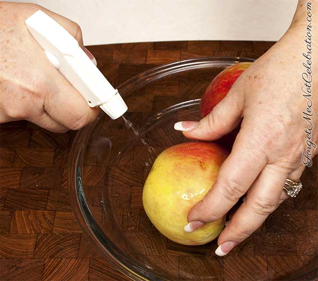 Washing fruit with homemade food wash