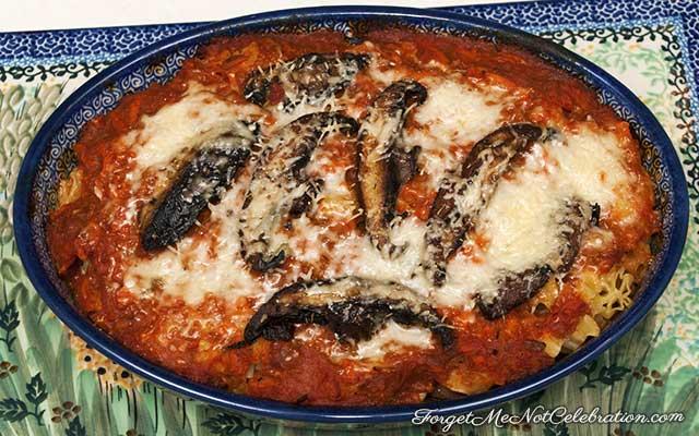 Baked Portobello Mushroom Pasta