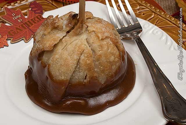 Caramel apple dumpling
