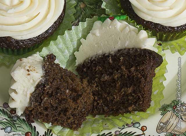 Gingerbread Guinness cupcake