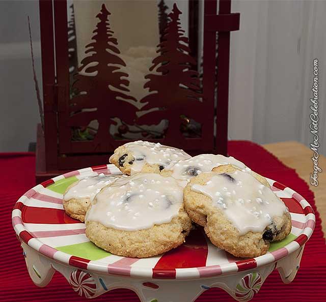 Glazed Cornmeal Cranberry Cookies