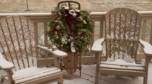 Snowy deck