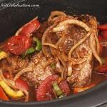 Cuban pot roast in a slow cooker