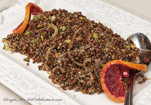 Red Rice and Quinoa salad