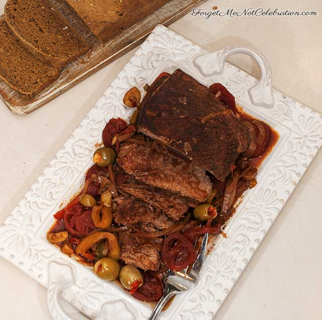 Sliced Cuban pot roast