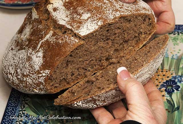 Bake Dutch oven bread.