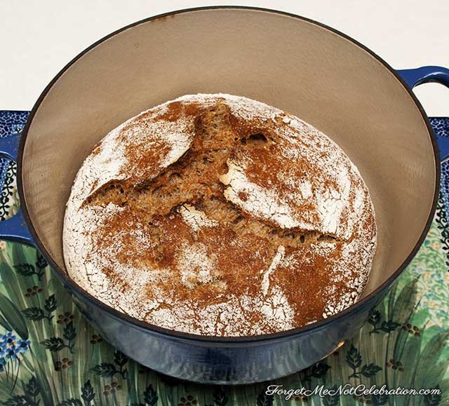 Baked Whole Wheat Dutch oven bread