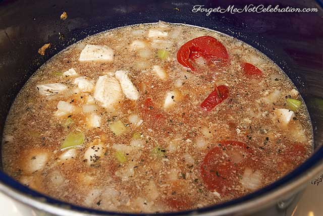 Cooking the Italian Chicken Soup