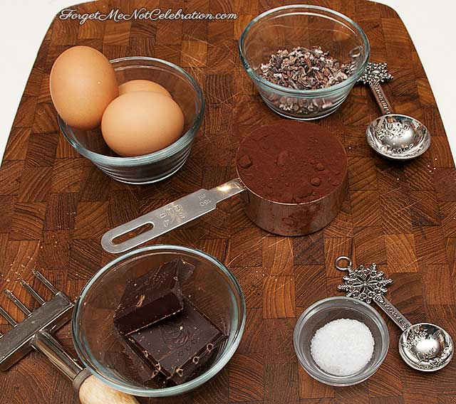 Ingredients for the Chocolate Amaretto Brownie Cookies