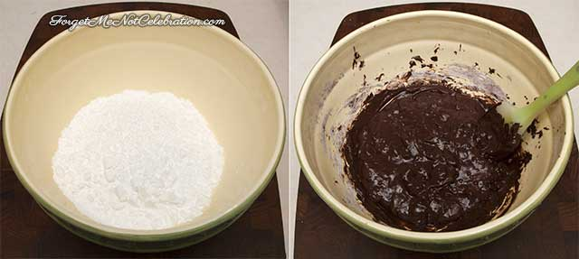 Mixing the cookie batter