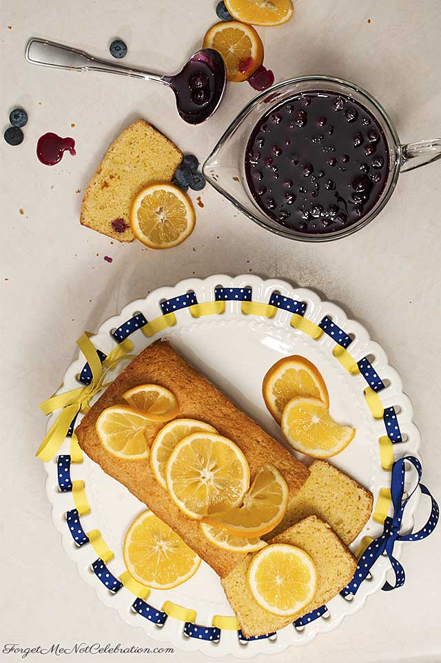 Lemon Cornmeal Pound Cake