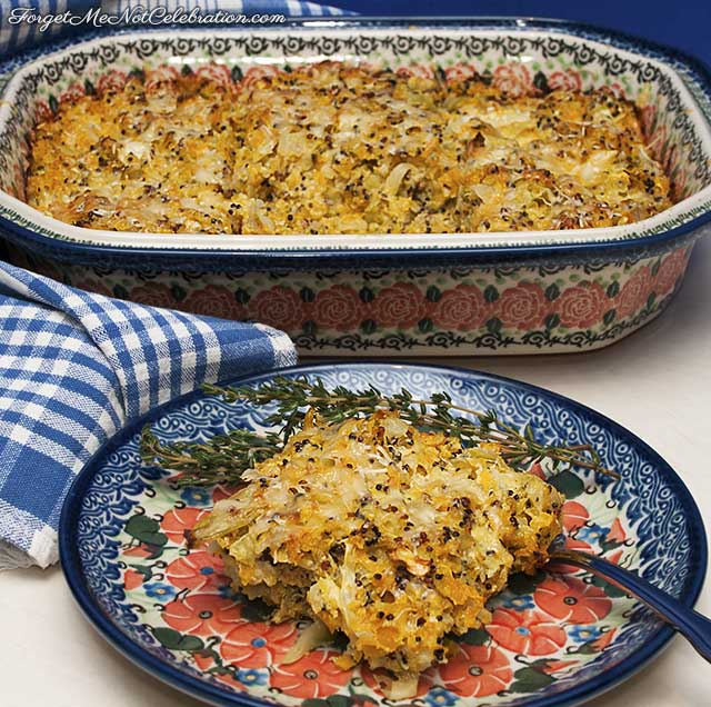 Winter vegetable gratin
