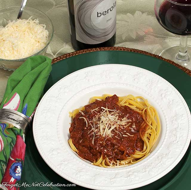 Basic marinara and pasta