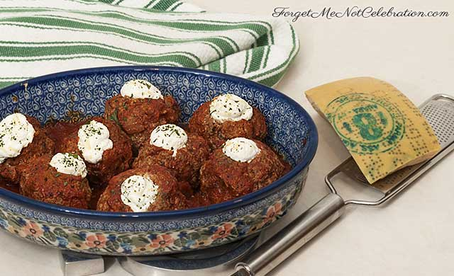Ricotta Stuffed Meatballs