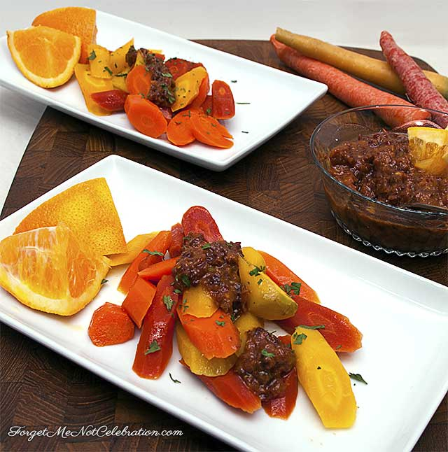 Carrots with Dried Cherry and Orange Vinaigrette