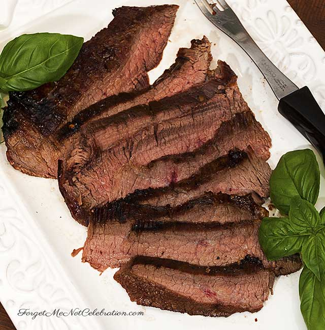 Sugar steak with bourbon