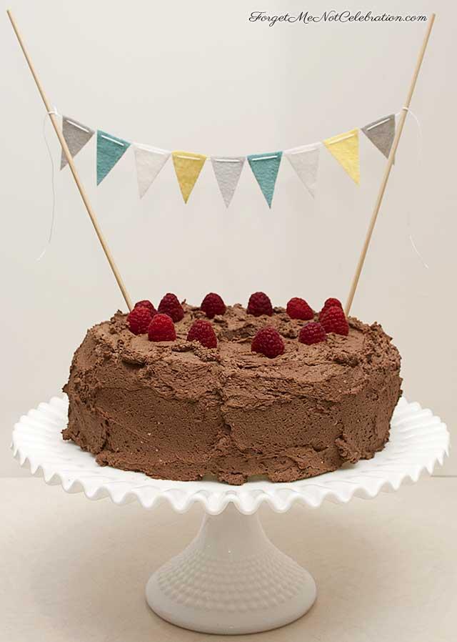 Angel Food cake with Chocolate Whipped Cream
