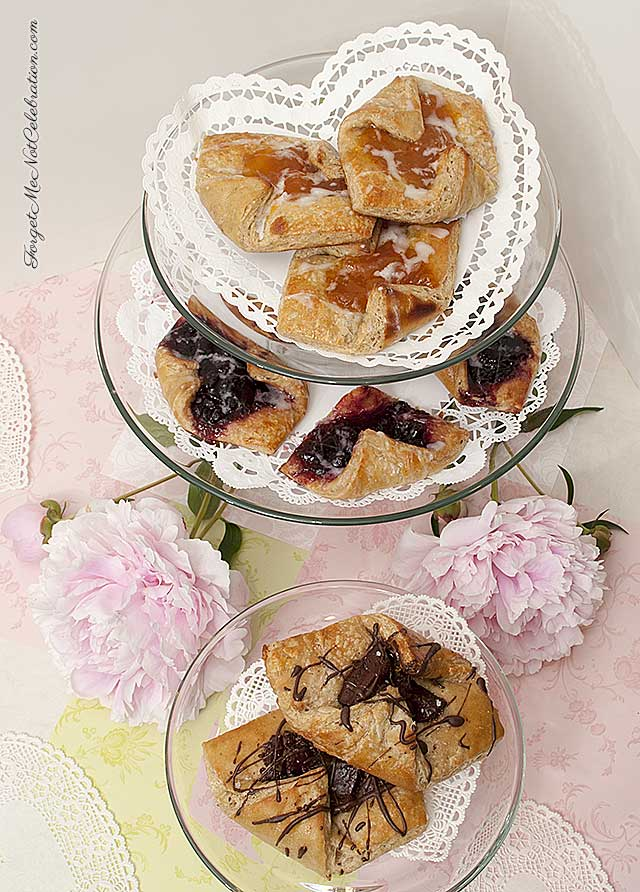 Fruit Danish pastry and Chocolate Danish pastry