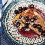 Swedish Rye Bread French Toast with Bourbon Cherries
