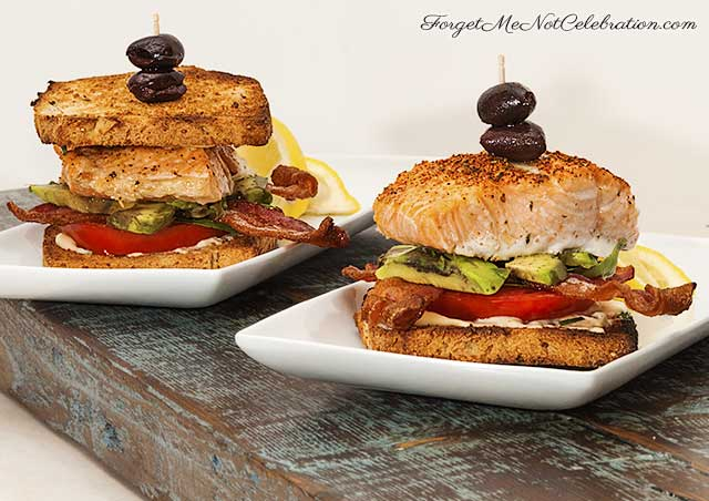 Salmon and Avocado BLTs