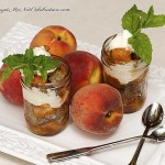 Trifle of Green Tea Pound Cake with Macerated Peaches