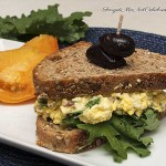 Egg Salad with Kale and Red Onion Sandwich